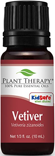 Plant Therapy Vetiver Essential Oil, 100% Pure, Undiluted, Therapeutic Grade 1/3 Oz.