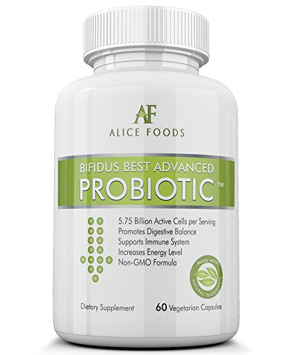 Suplemento probióticos Premium rápido Natural flatulencias de alivio - Bifidus mejor avanzado probiótico 60 días + Kombucha cómo para hacer guía - para hombres y mujeres - Lactobacillus y Bifidobacterium - para luchar contra problemas intestinales, meteor