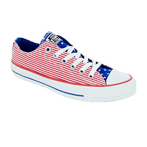 Converse Mens Chuck Taylor All Star Stars and Bars Ox Low Red/White/Blue Sneaker - 6.5 Men - 8.5 Women