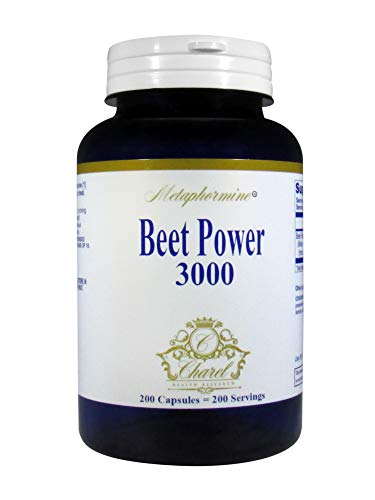 Metaphormine Super Beet Root Powder 3000mg Capsules – Supports Healthy Blood Pressure – Best High Fiber Supplement Capsules – 200 Beet Root Capsules (200 Day Supply)