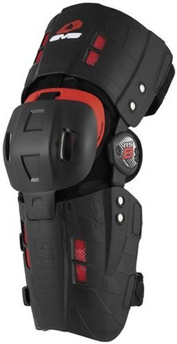 EVS RS8 Injection Adult Knee Brace Off-Road Motorcycle Body Armor - Black / Medium - Left by EVS Sports