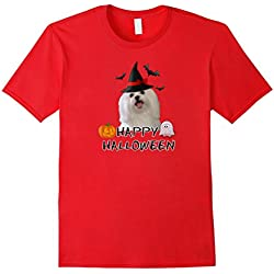 Happy Halloween Maltese Owner T-shirt Costume Witch Ghost