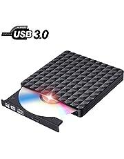 Grabadora CD DVD Externo Lector Portátil USB 3.0 Lectura Rápida Reproductor DVD/CD Externo para PC Windows7/8/10,Linux,Mac OS