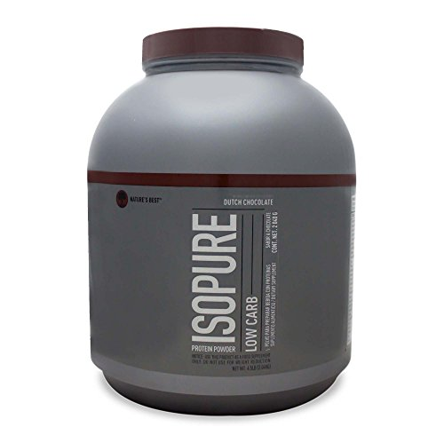 Natures Best Isopure Low Carb Protein Powder, 100% Whey Protein Isolate, Flavor: Dutch Chocolate, 4.5 Pound (Packaging May Vary)
