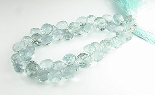 Glass Green Quartz Faceted Chubby Onion Candy Kiss Gemstone Briolettes Beads 8mm (10 - Chubby Glasses