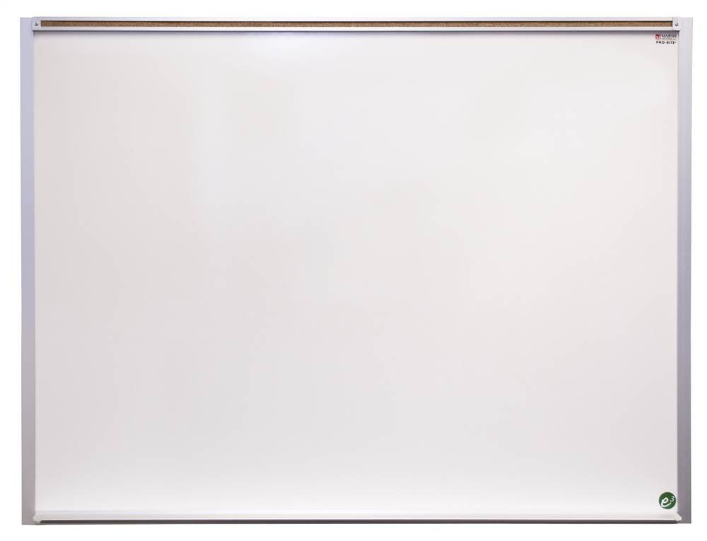 Pro-Lite Traditional Markerboard in White (104 in. W x 54 in. H (70 lbs) with 1 in. Map Rail)