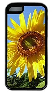 Sunflower DIY Rubber Black iphone 5/5s iphone 5/5s Case Perfect By Custom Service