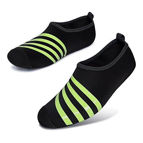 L-RUN Herren Wasser Schuhe Barfuß Haut Aqua Schuhe für Dive Surf Swim Beach Yoga Schwarz