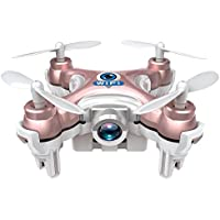 paterJOY Cheerson CX-10W WiFi Mini Drone with 0.3MP FPV Camera 2.4G 6-Axis Gyro Real Time RC Quadcopter (Pink)