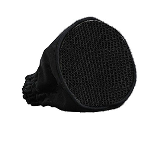 Dovewill Professional Hairdressing Foldable Canvas Black Universal Hair Dryer Sock Diffuser Travel Wind Blower Attachment Cover Fit All Blow Tool