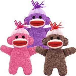 Baby Sock Monkey (Color May Vary) -