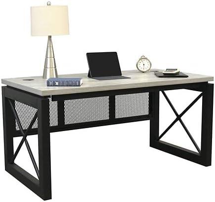 Editors' Choice: Urban Compact Desk 60″W x 32″D Concrete Laminate Top/Black Accents