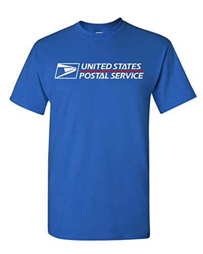 USPS T-SHIRT Shirt postal t shirt United States Service Eagle T shirt (M, Royal - Usps Shop