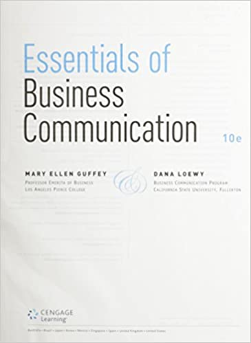 Essentials of business communication loose leaf version with essentials of business communication loose leaf version with premium website 1 term 6 months printed access card 10th edition by mary ellen guffey fandeluxe Images
