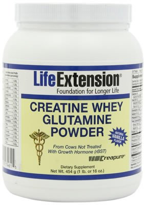 Life Extension CREATINE -WHEY-GLUTAMINE POWDER 1 LB VANILLA ( Multi-Pack) by Life Extension