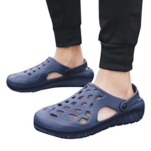 Price comparison product image Gyoume Men Outdoor Shoes, Slip-on Shoes Walking Beach Flip Flops Summer Beach Slippers Crocs Shoes (US:9.5,  Blue-2)