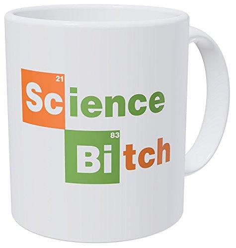 YISUMEI 12 Oz Ceramic Coffee Mug Tea White Cup Science B, Chemistry