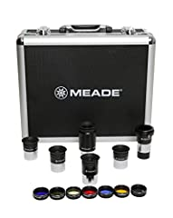 """Meade Series 4000 1.25"""" Eyepiece and Filter Set. Complete set of the most popular accessories for your Meade telescope. This comprehensive kit makes accessorizing easy. Includes five Meade Plods Eyepieces in focal lengths of 6mm, 8mm, 13mm, 1..."""