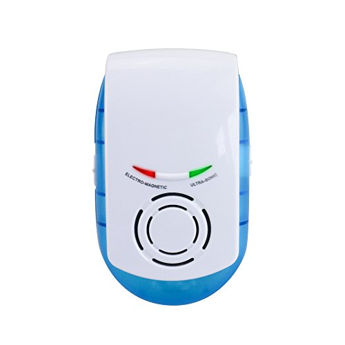 Ultrasonic Electromagnetic Pest Repeller - Plug In Sonic Mouse Repellent w/ Nightlight For Indoor Use - Works on Mice, Rats, Rodents & Insects - 1 Pack