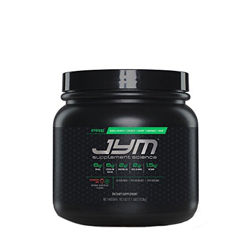 JYM Supplement Science, PRE JYM, Strawberry Kiwi, Pre-Workout with BCAAs, Creatine HCl, Citrulline Malate, Beta-alanine, Betaine, Alpha-GPC, Beet Root Extract and more, 20 Servings