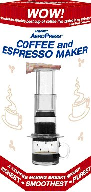 Aerobie AeroPress Coffee and Espresso Maker with Bonus 350 Micro Filters by Aerobie