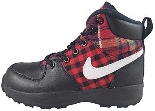 Nike Boy's Manoa SE Boot, Black/Summit White-Habanero Red, 1.5Y