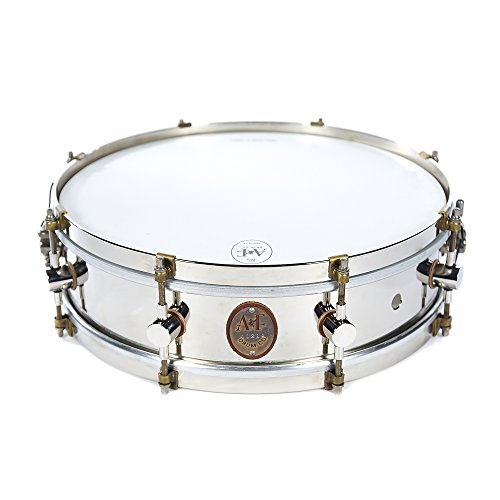 A&F Drum Co. 4x14 Nickel Over Brass 8-Lug Snare Raw Brass Hoop