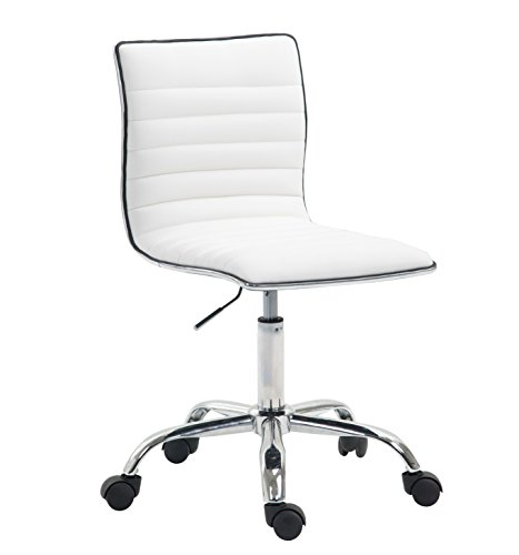 Poly and Bark Risa Task Chair in Vegan Leather, White