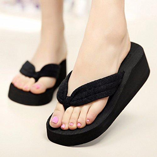 Playa Baño Tacón de para EVA Zapatillas Zapatos 40 Alto Plataforma Mujer Color para de Zapatillas Intenso 37 Verano de de Zapatillas Dabixx Pink Hot Mujer de EVA Negro Mujer Rosa qOv0wt