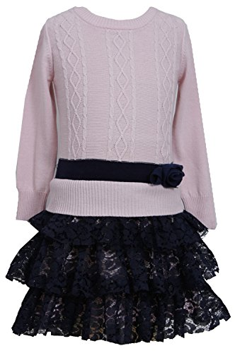 cable knit tiered sweater dress - 9