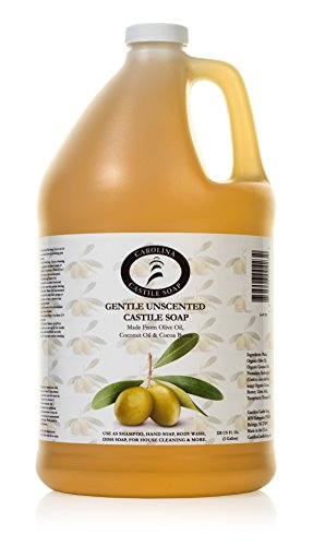 Carolina Castile Soap Gentle Unscented | Certified Organic - 1 Gallon