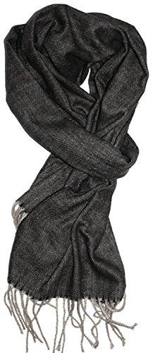 Veronz Soft Classic Cashmere Feel Winter Scarf Black/Gray Herringbone