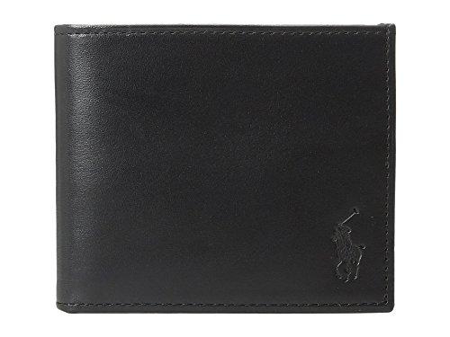 Polo Ralph Lauren Calf Leather Billfold Black Bill-fold Wallet ()