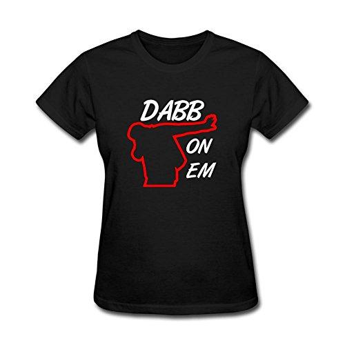 TLMKKI Women's Dab On Em T-shirt Black XXL
