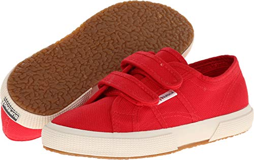 Superga Kids Unisex 2750 JVEL Classic (Toddler/Little Kid) Red 27 M EU (Superga Kids Classic Shoe)