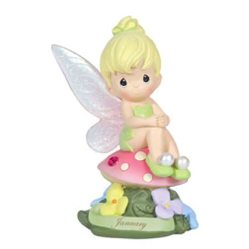 Precious Moments, Disney Showcase Collection,  January Fairy As Tinker Bell, Resin Figurine, Garnet, -