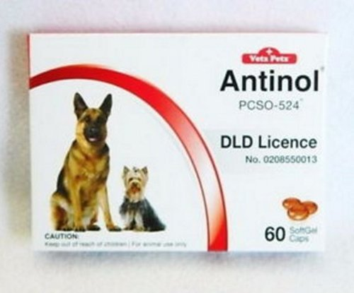 2 Pack Vetz Petz Antinol Extract 100% For Dogs Anti-inflammatory and Pain Relief 60 Tablet. by Vetz Petz Antino