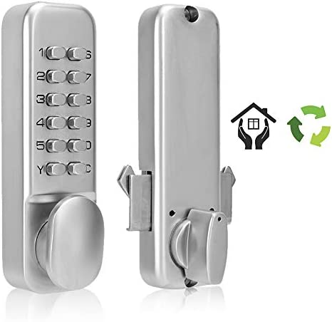 Cerradura mecánica digital, Cerradura de la puerta con llave de la contraseña, 1-11 Cerradura de puerta de combinación de dígitos para cocina / balcón / seguridad para el hogar: Amazon.es: Bricolaje y herramientas