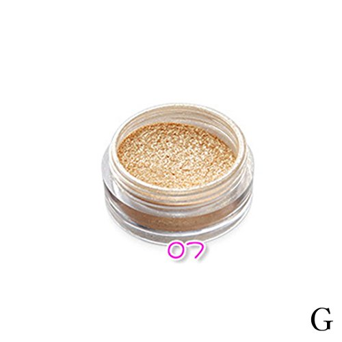 Misaky Professional Classy Glitter Powder Eyeshadow Makeup Eye Shadow Cosmetics Pigment Highlighter Salon (#G)