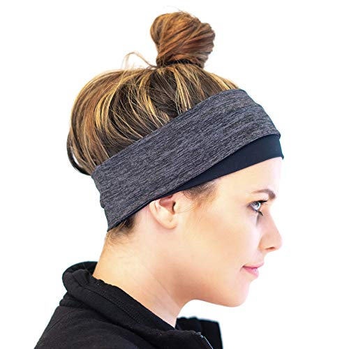 Red Dust Active Ponytail Headband - Cold Weather Technical Sweatband - Moisture Wicking, Breathable & Warm - Reversible Running Ear Warmer - Perfect for Cold Weather Workouts