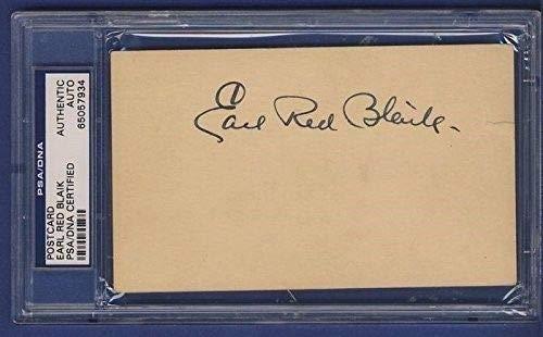 Earl Red Blaik Signed 3x5 1948 GPC Postcard PSA/DNA 132989