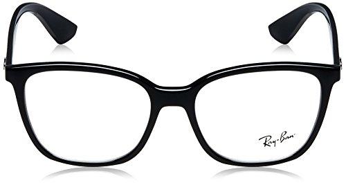 Ray RX7066 Black lunettes Montures Homme Pour Ban 52mm de Shiny Noir Negro Optical r4wrXA