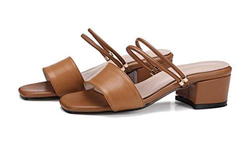 Sommer Sandalen Frauen auf die Sandalen mit Buchse Sandalen braun