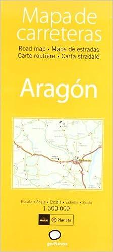 Mapa De Carreteras Aragon Atlas Spanish Edition Aa Vv