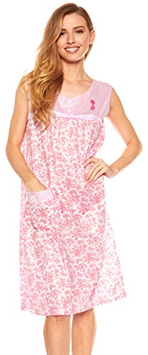 Trulee Womens Night Gown | Pajamas & Sleepwear | Knee Length Nightshirt