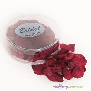 Burgundy Rose Petals Fabric Confetti 164 Petals