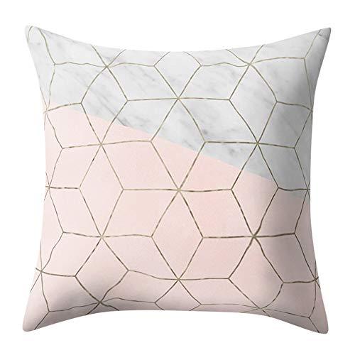 Fxbar Multicolor Geometric Graphics Throw Pillow Case Glitter Sequin Sofa Waist Cushion Covers Home Decor Fashion Design (U)