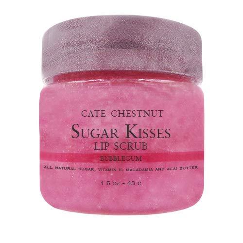 Sugar Kisses Lip Scrub - Bubblegum All Natural Vegan Exfoliating 1.5oz by Cate Chestnut