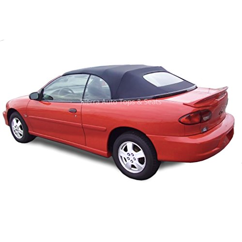 Cavalier & Sunfire 1998-2000 Black Sailcloth Vinyl Front Section and Heated Glass Combo (Pontiac Convertible Top)
