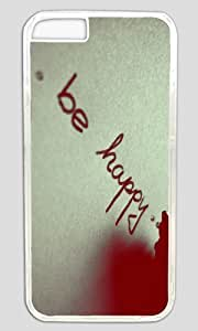 Be Happy DIY Hard Shell Transparent Best Designed iphone 6 plus Case